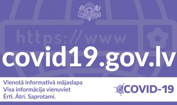 VIETNĒ COVID19.GOV.LV VIENUVIET BŪS PIEEJAMA AKTUĀLĀ INFORMĀCIJA PAR COVID-19